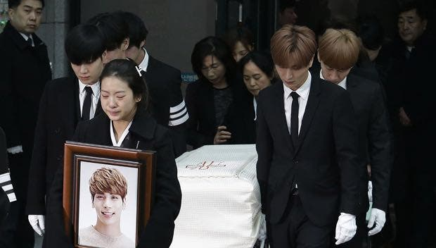 Kim jong-hyun funeral. (AP)