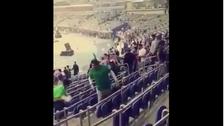 شاهد ماذا فعل مشجع سعودي بعد مباراة الأخضر في الكويت