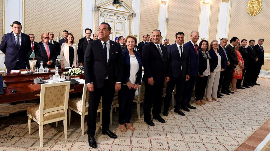 Tunisian cabinet attend their first cabinet meeting on August 31, 2016 at the Carthage Palace near Tunis. (AFP)