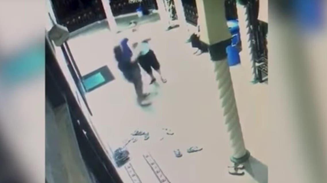 (Screen grab) - Muslim attacked in mosque Australia