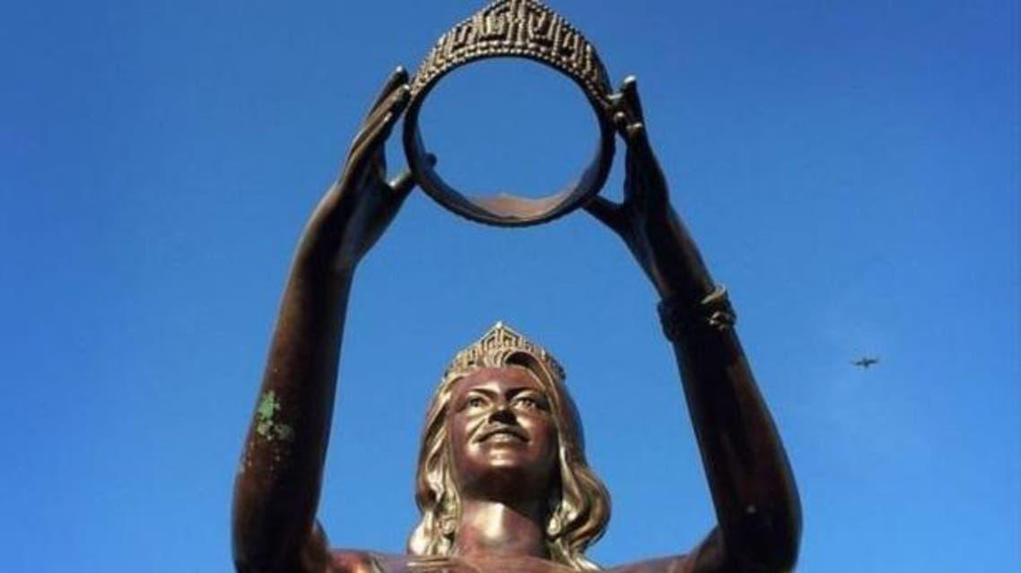 تمثال مسابقة ميس أمريكا بمدينة أتلانتيك سيتي