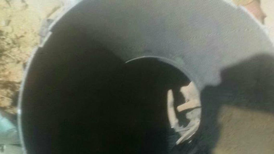 الصاروخ الحوثي الذي سقط عقب إطلاقه