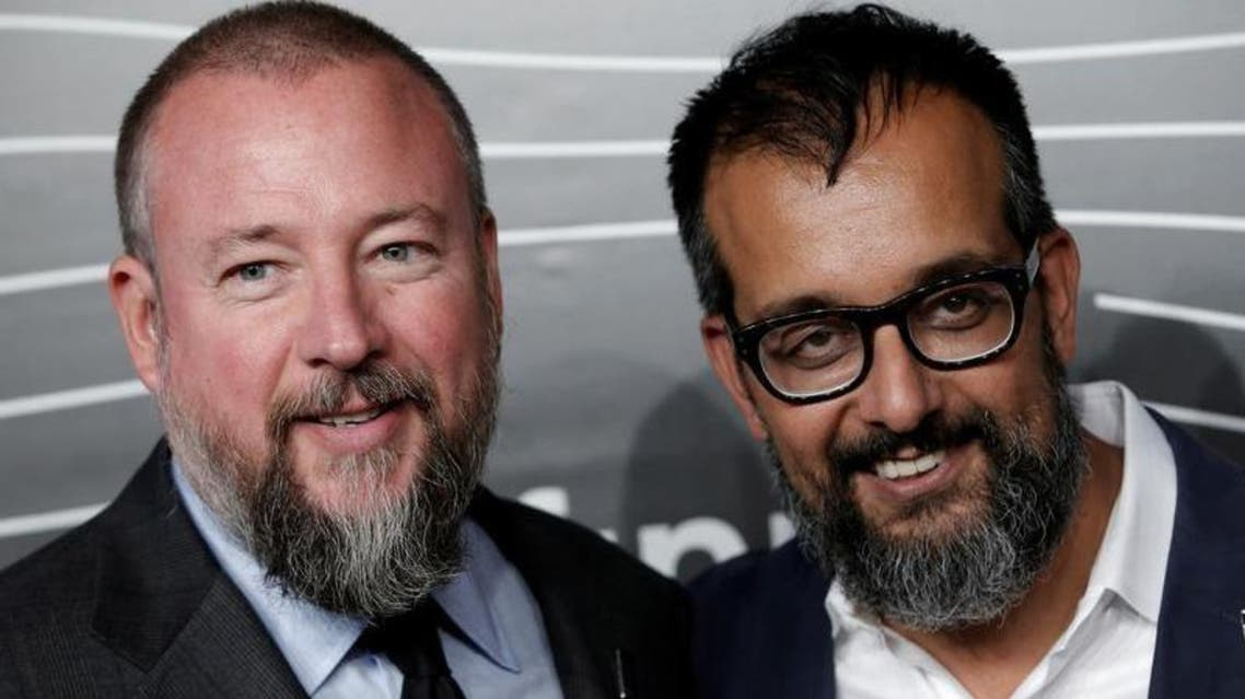 Co-Founders of VICE Shane Smith (L) and Suroosh Alvi (R) pose as they arrive for the 20th Annual Webby Awards in Manhattan, New York, U.S., May 16, 2016. (Reuters)