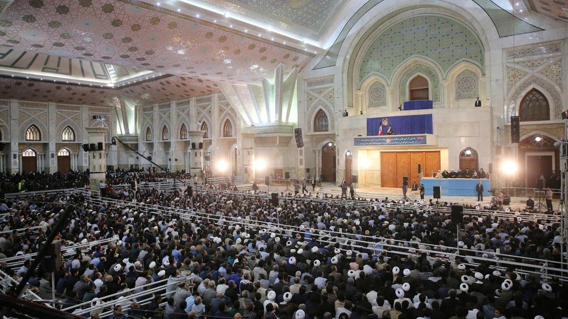 Supreme Leader Ayatollah Ali Khamenei delivers a speech in Tehran on June 4, 2017. (Reuters)
