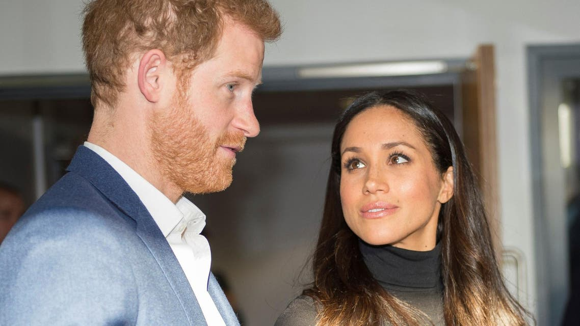 Britain's Prince Harry and Meghan Markle visit the Nottingham Academy school in Nottingham on December 1, 2017. (Reuters)