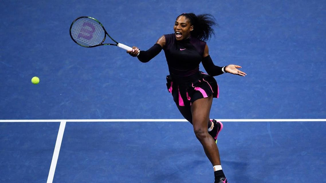 Serena Williams of the United States returns a shot to Karolina Pliskova of the Czech Republic during her Women's Singles Semifinal Match on Day Eleven of the 2016 US Open at the USTA Billie Jean King National Tennis Center on September 8, 2016. (AFP)