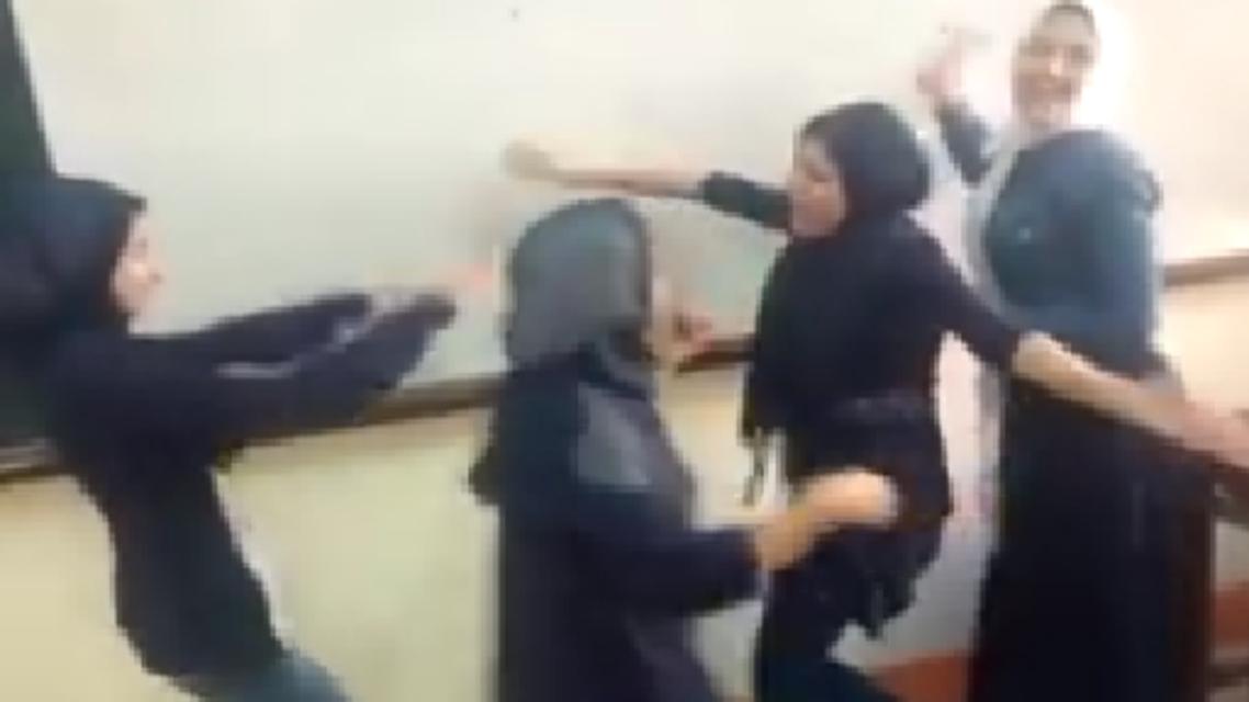 egyptian students dancing. (Screen grab)