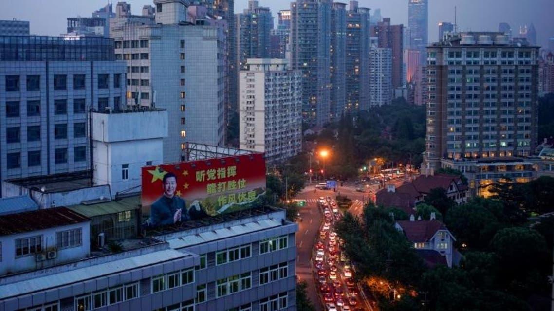 لقطة عامة لمنطقة في مدينة شنغهاي الصينية