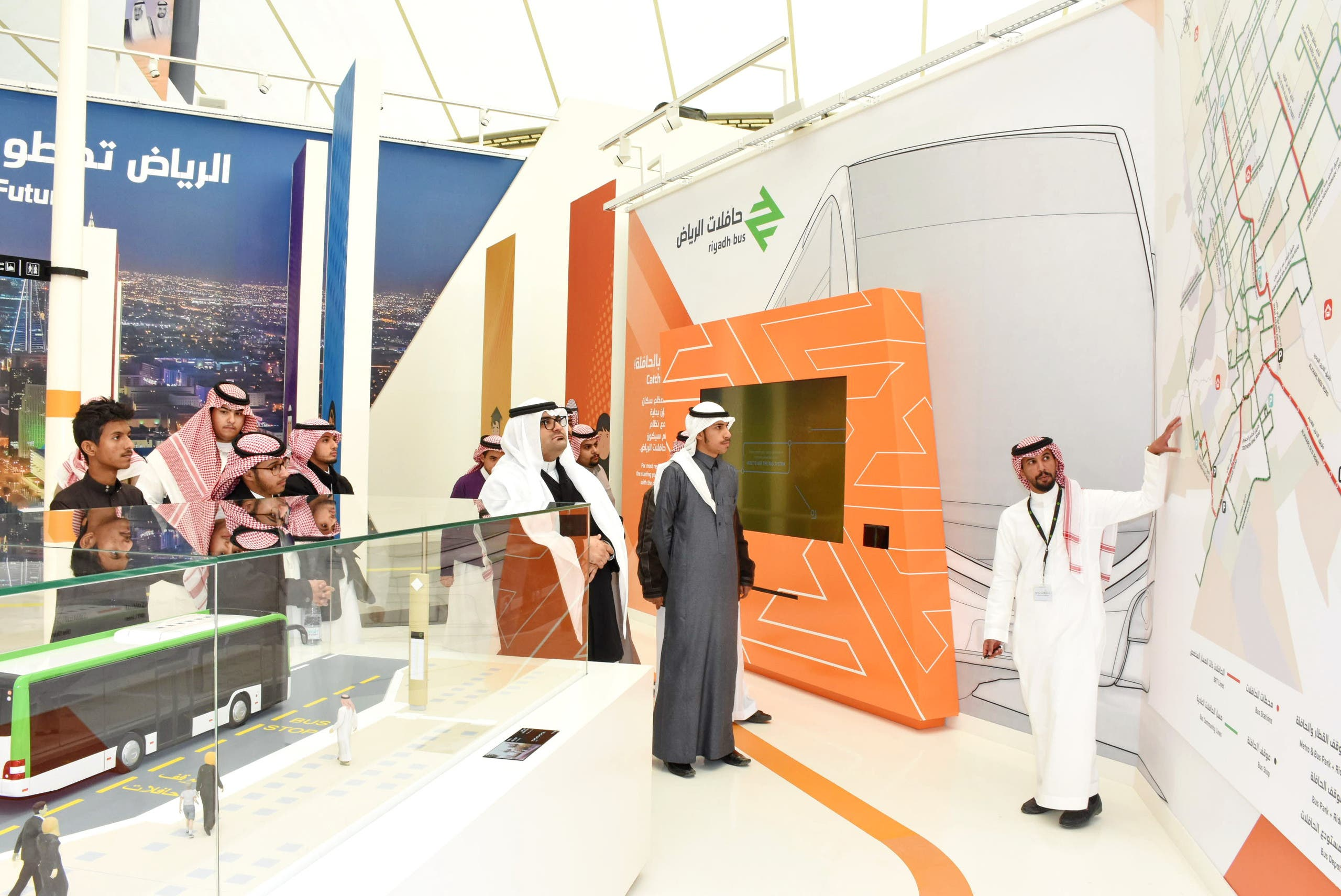 The exhibition includes mock ups for future buses that users can solicit from their locations via mobile app. (Supplied)