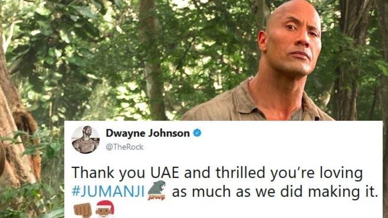 Dwayne Johnson Thanks Uae Fans After Jumanji Opens Big At