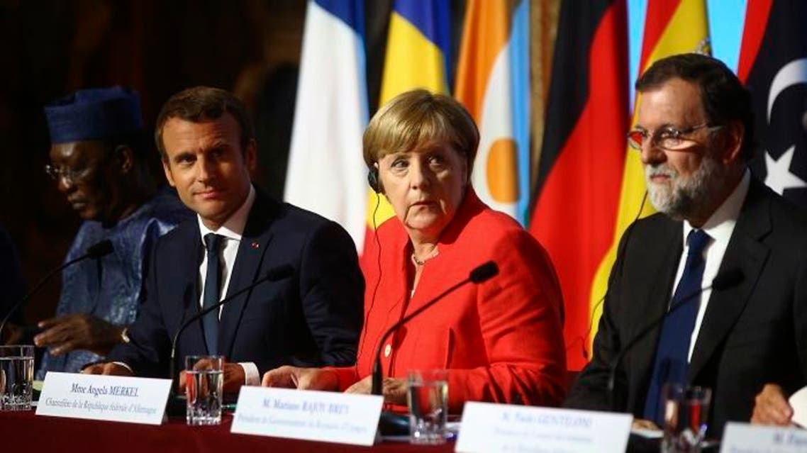 The leaders of France, Germany, Italy and Spain are meeting Monday with counterparts from Libya, Niger and Chad to discuss ways to curb illegal migration across the Mediterranean Sea to European shores. (AP)