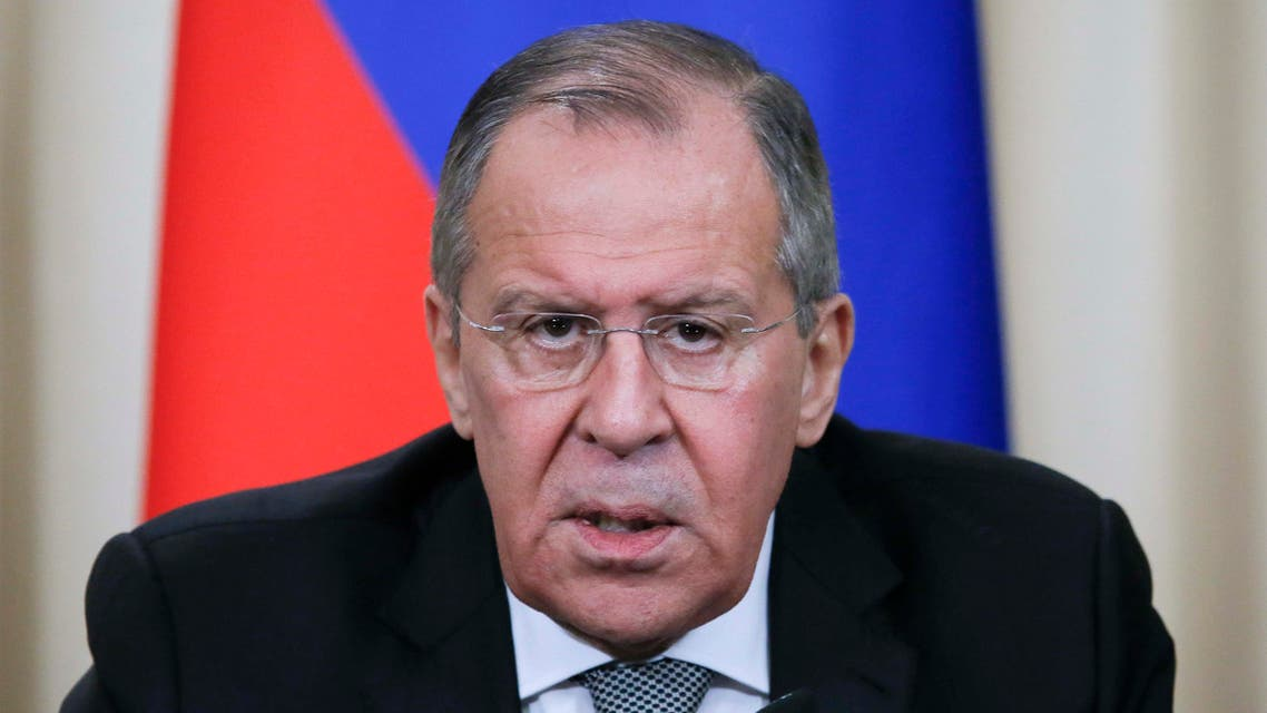 Russian Foreign Minister Sergei Lavrov speaks during a news conference following the talks with British Foreign Secretary Boris Johnson in Moscow, Russia December 22, 2017. REUTERS/Maxim Shemetov