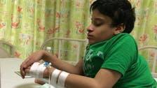 """سعودی عرب : نادر نوعیت کی """"خمیدہ کمر"""" والا بچّہ علاج کا منتظر"""