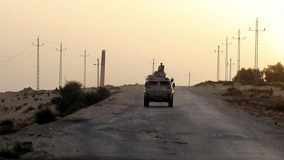 An Egyptian military vehicle is seen on the highway in northern Sinai, Egypt. (File photo: Reuters)