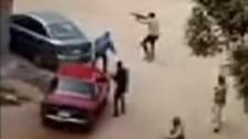 WATCH: Gun battle in front of attacked Helwan church in Egypt
