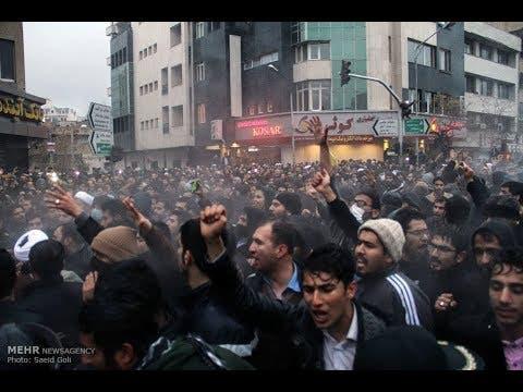 مظاهرات مشهد ايران