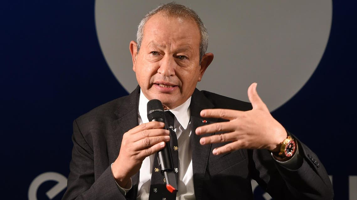 Naguib Sawiris speaks during a press conference in Lyon, southeastern France, on October 15, 2015. (AFP)