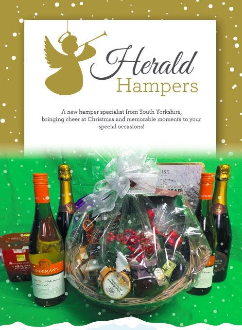 The recipients were asked to phone the fictitious company, appropriately named Herald Hampers, to arrange a delivery slot. (Photo courtesy: South Yorkshire Police)