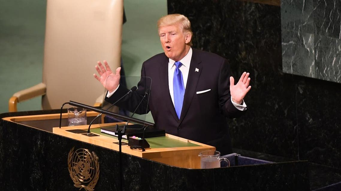 US President Donald Trump addresses the 72nd Annual UN General Assembly in New York on September 19, 2017. (AFP)