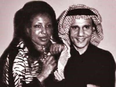 الفنانة السعودية مع العندليب عبدالحليم حافظ
