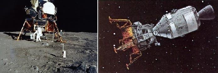 انفصلت المركبة عن ثانية صورت هبوطها في 1969 بأول انسان على سطح القمر