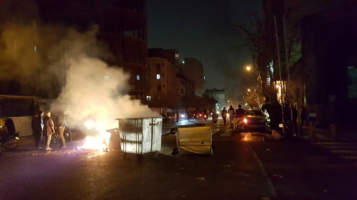People protest in Tehran, Iran December 30, 2017 in this picture obtained from social media. (Reuters)
