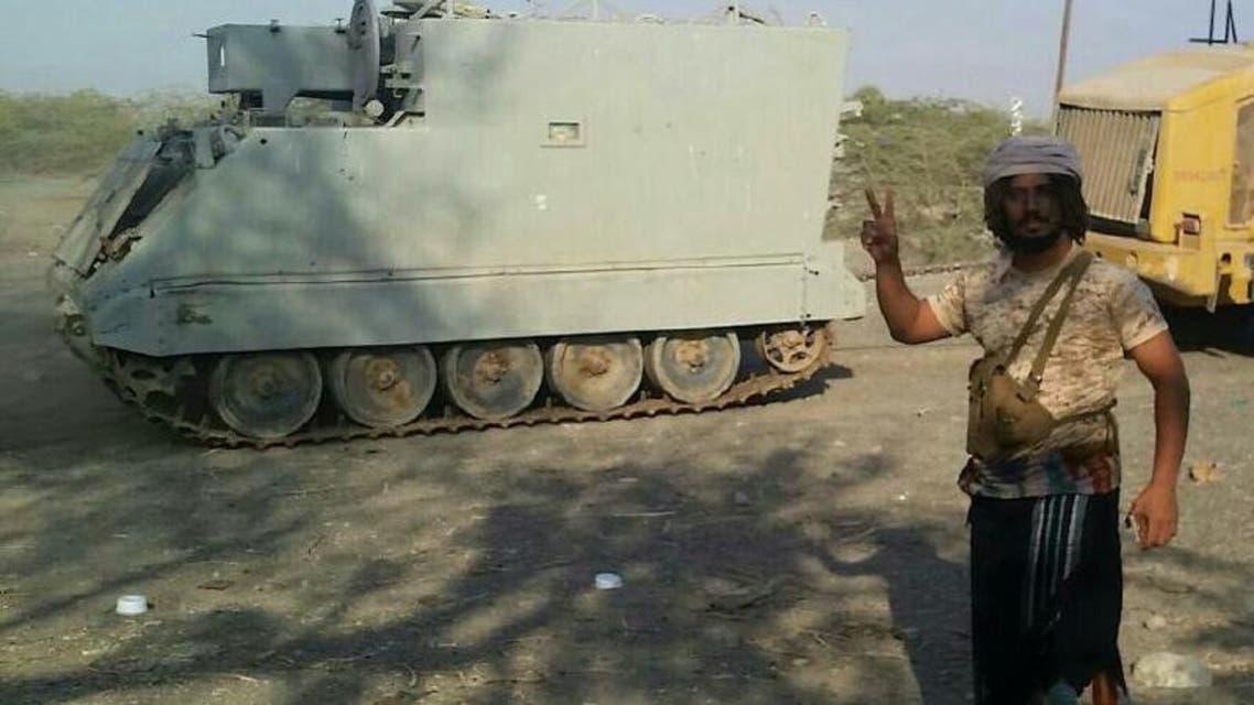 معدات عسكرية ثقيلة استعادها الجيش اليمني من الحوثيين2