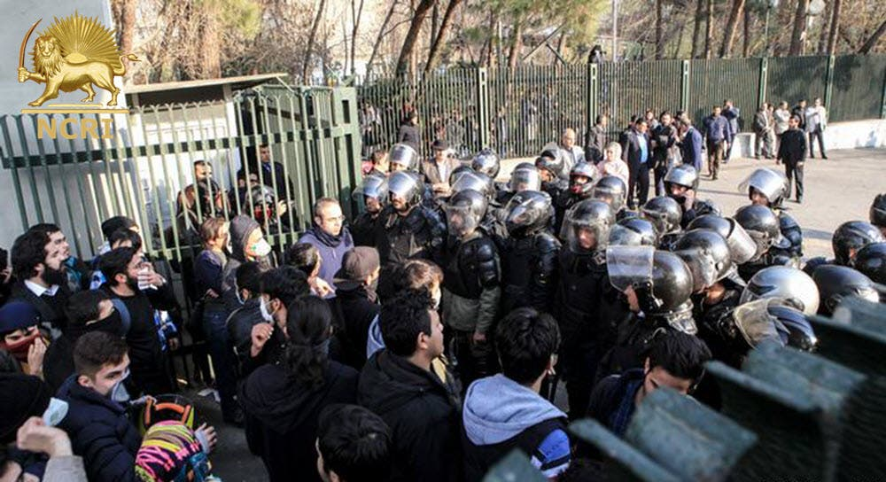 The National Council of Resistance of Iran says at least 1,000 people, mostly youth, have been arrested so far. (NCRI)