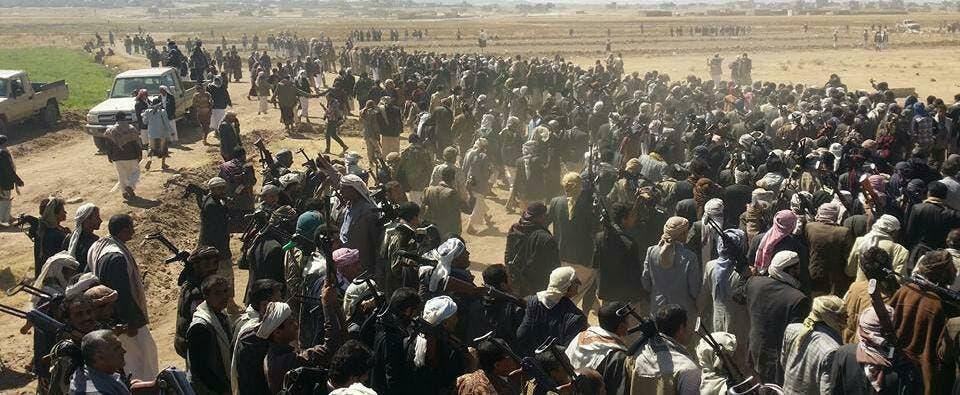 صور نشرتها مواقع يمنية من استنفار قبيلة عنس ضد الحوثيين