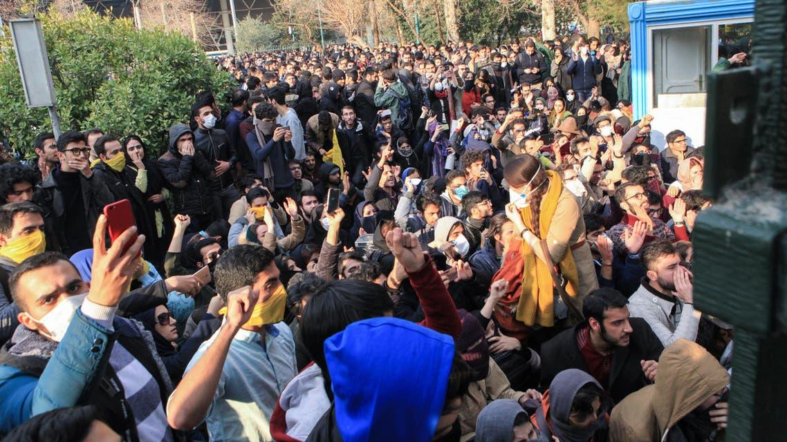 جانب من الاحتجاجات في إيران 3