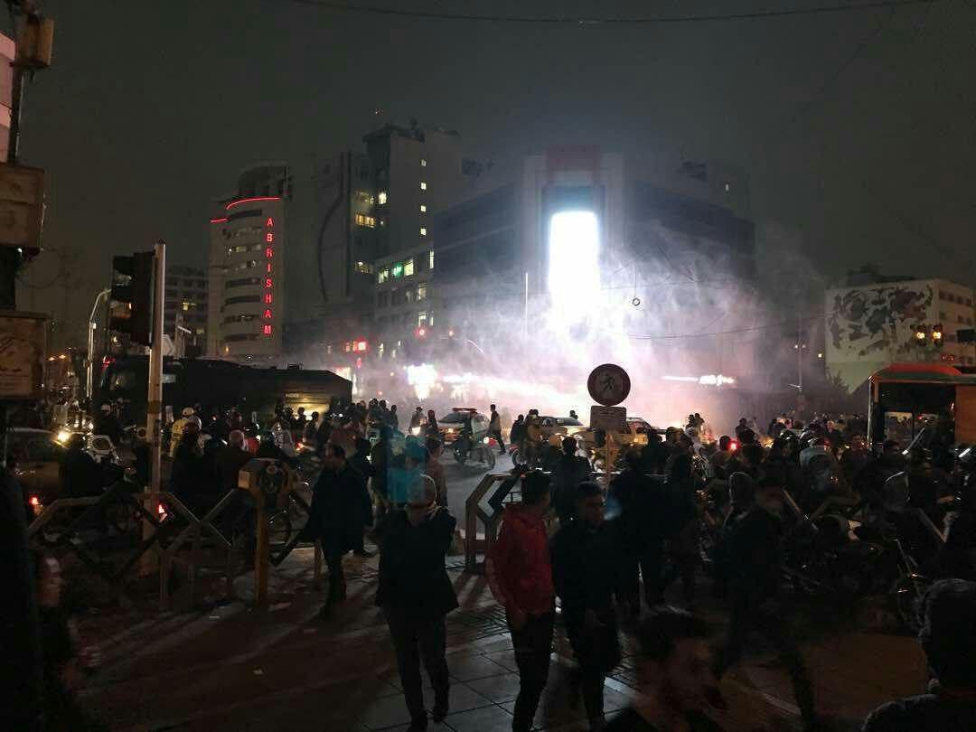 Anti-government protesters demonstrated in Iran on Sunday in defiance of a warning by the authorities of a tough crackdown. (Supplied)