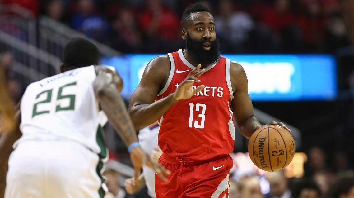 Houston Rockets guard James Harden (13) dribbles the ball during the first quarter against the Milwaukee Bucks at Toyota Center. (Troy Taormina-USA TODAY Sports/Ruters)