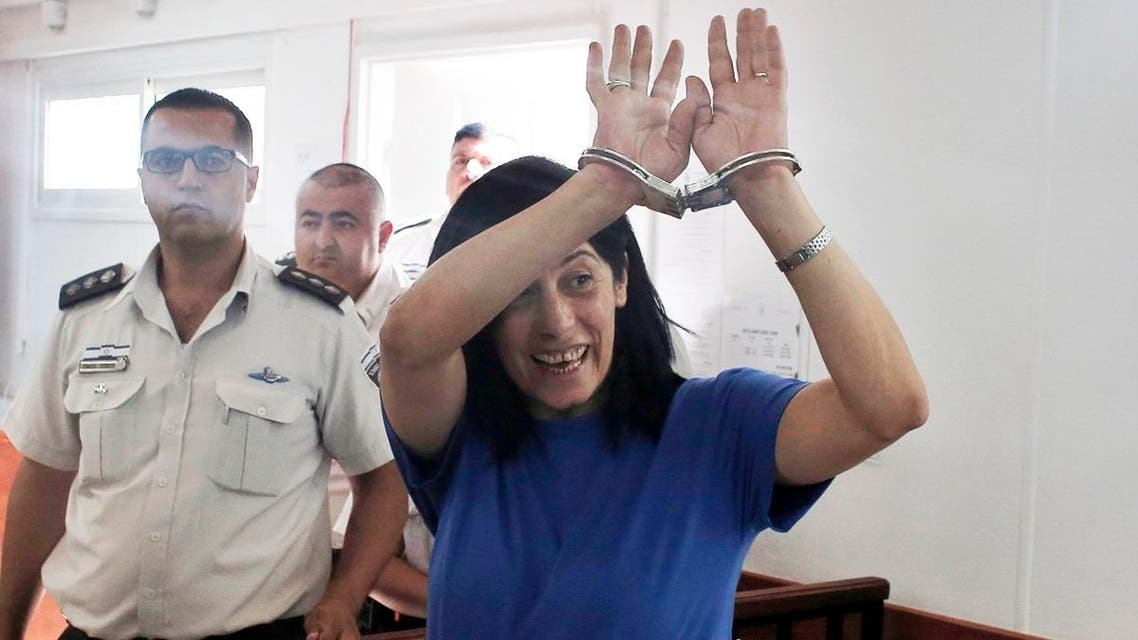 Khalida Jarrar was arrested on July 2 for being a senior member in the Popular Front for the Liberation of Palestine (PFLP). (File photo: AFP)
