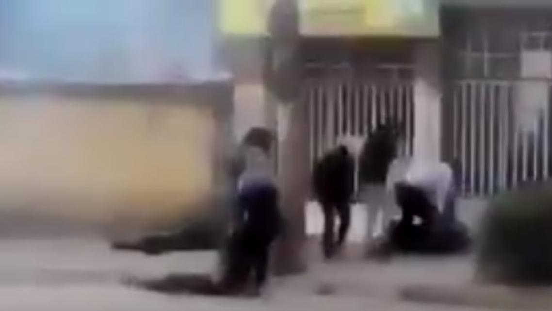 iran protesters. (Screen grab)