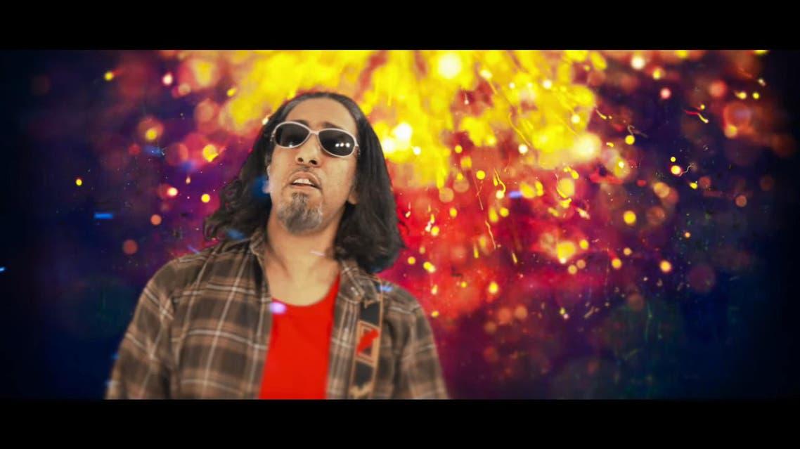 "In the song titled ""Cinema in Saudi"", band members Hasan Hatrash, Khalid Sharani, Amro Hawari and Amir Abbas relive their favorite childhood memories of cinema. (Youtube)"