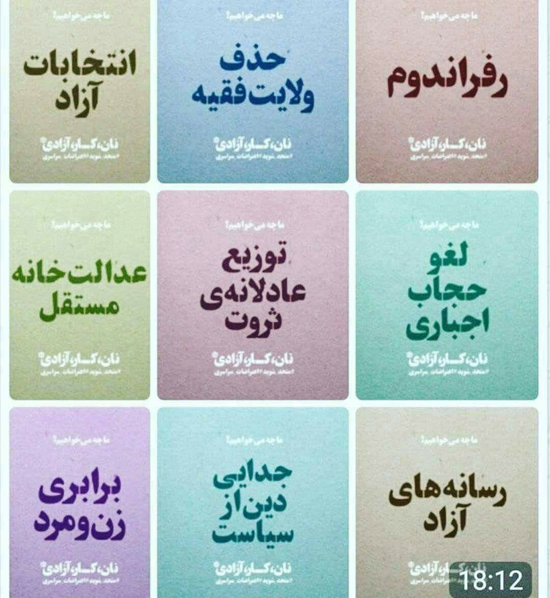 iran protests demands