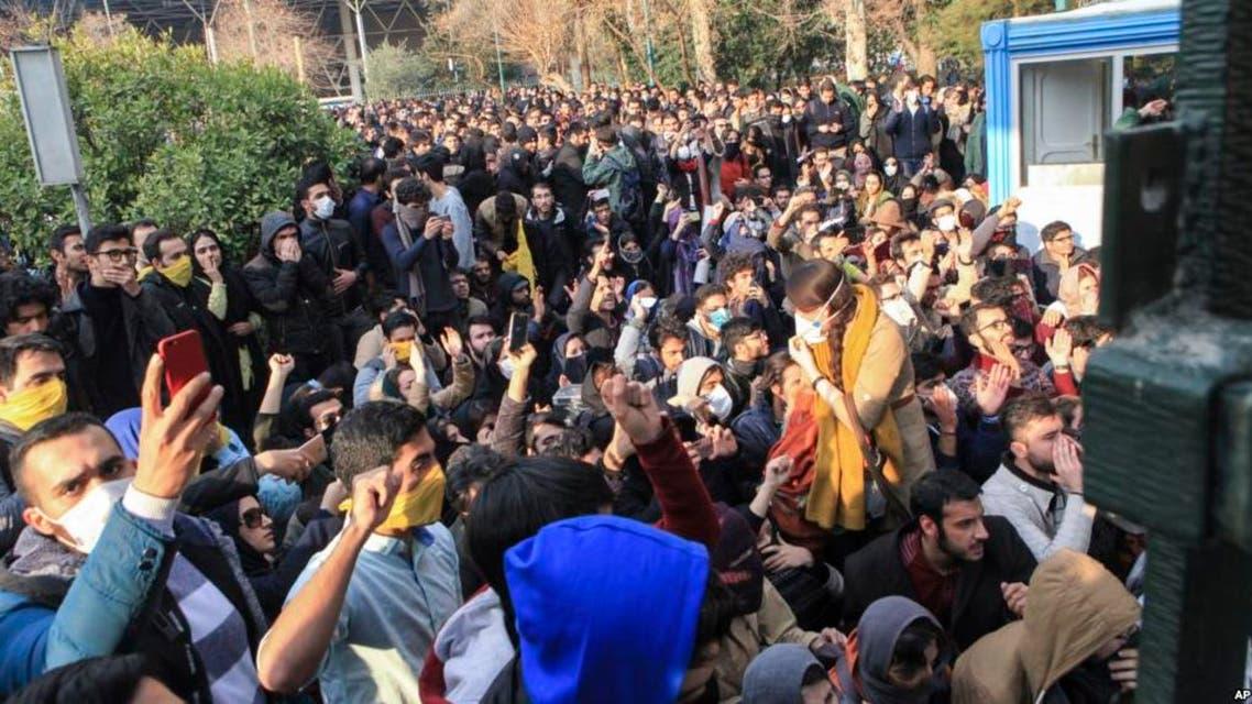 مظاهرات في جامعة طهران