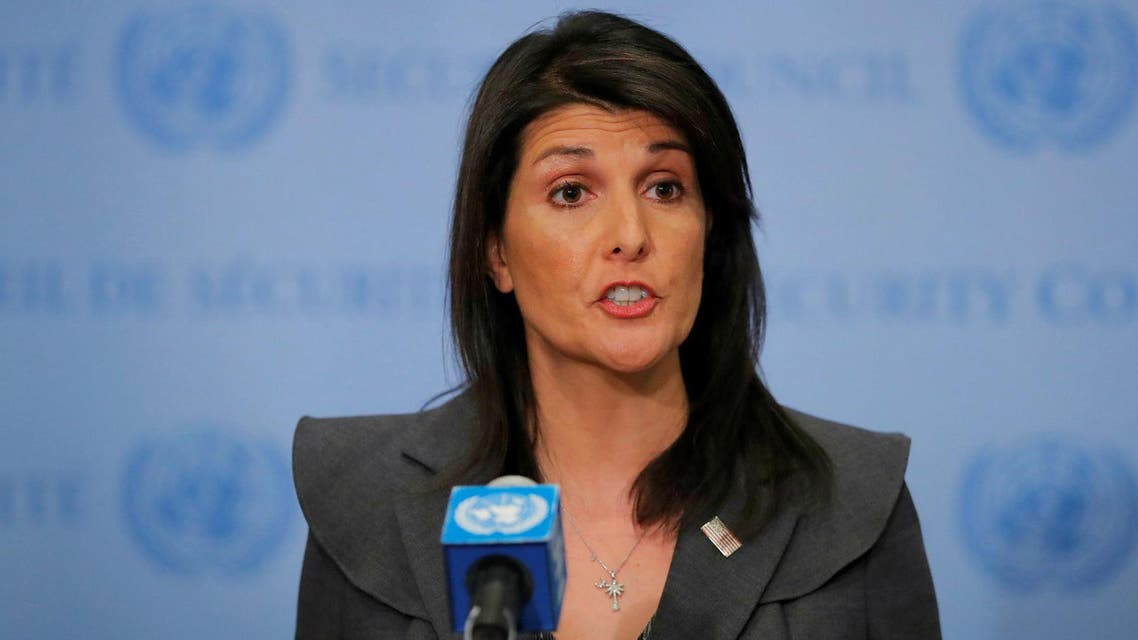 U.S. Ambassador to the United Nations Nikki Haley speaks at UN headquarters in New York. Reuters
