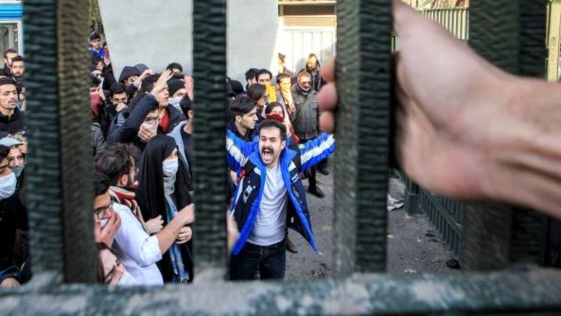 تظاهرات في جامعة طهران