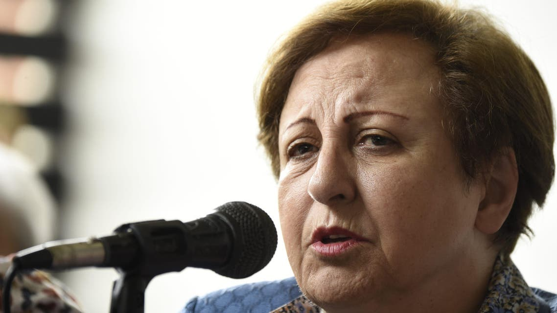 Iranian Nobel Peace Prize laureate Shirin Ebadi speaks during a press conference in Guatemala City on October 27, 2017. Four Nobel Peace prize-winning women, Rigoberta Menchu of Guatemala, Tawakkol Karman of Yemen, Shirin Ebadi of Iran and Jody Williams of the United States are in Guatemala as part of a tour which also included Honduras to investigate violence against women and human rights activists.  Johan ORDONEZ / AFP