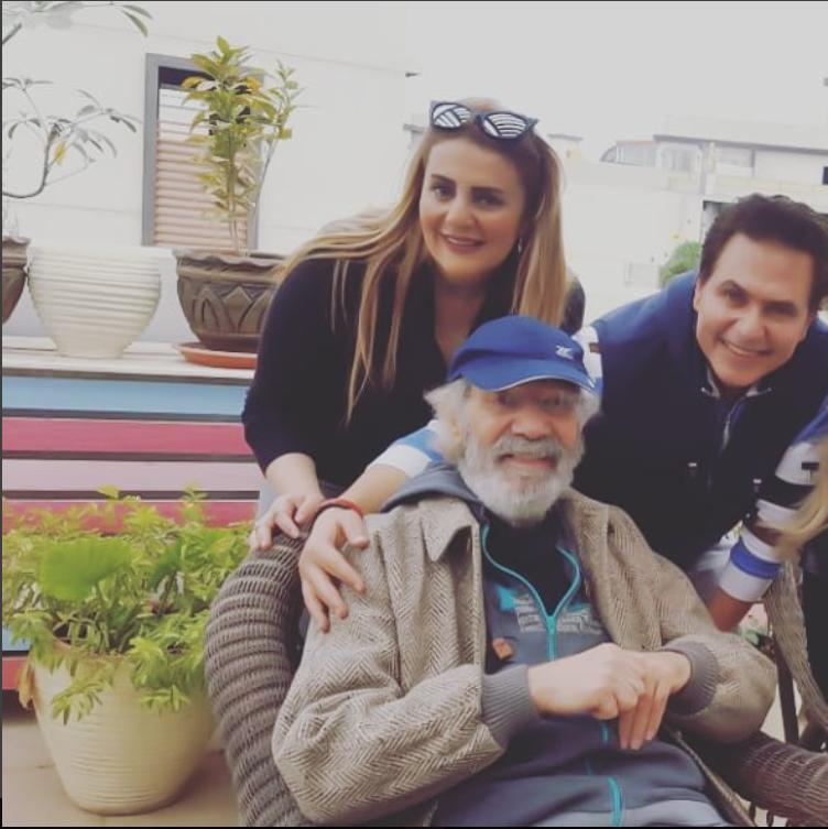 الراحل محمود ياسين وابنته رانيا وزوجها محمد رياض