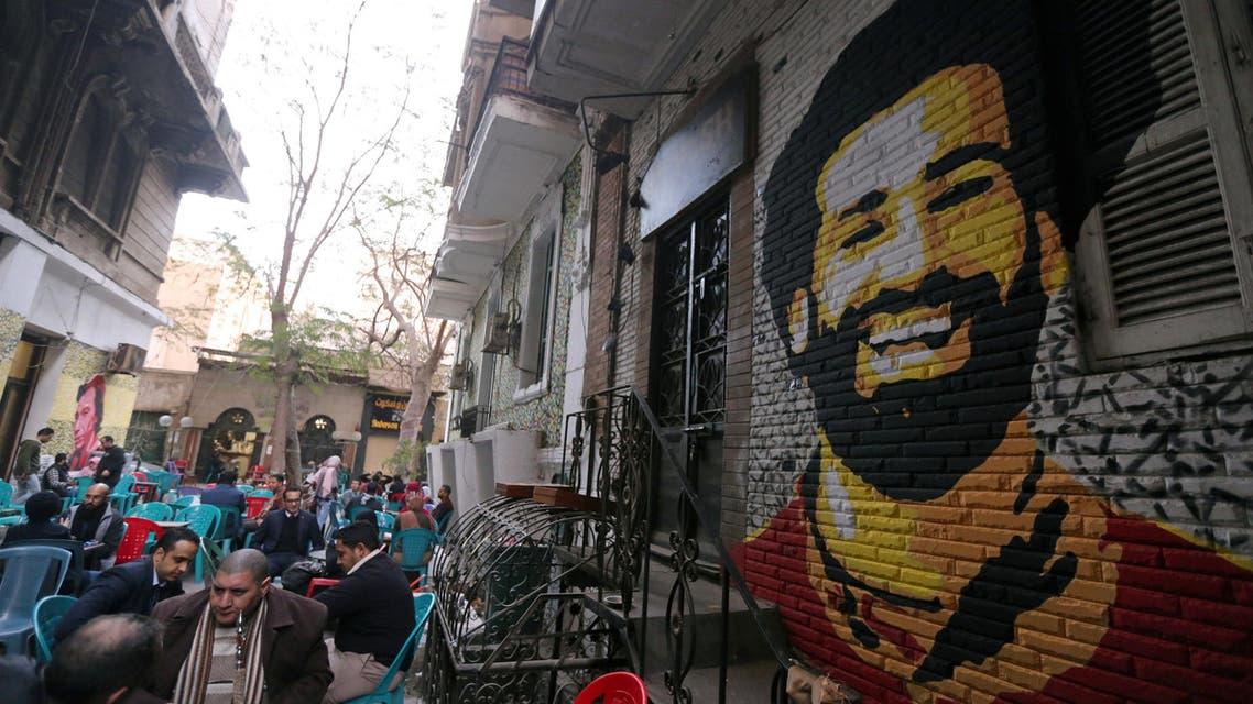 صورة لمحمد صلاح على جدار أحد الشوارع بالقاهرة