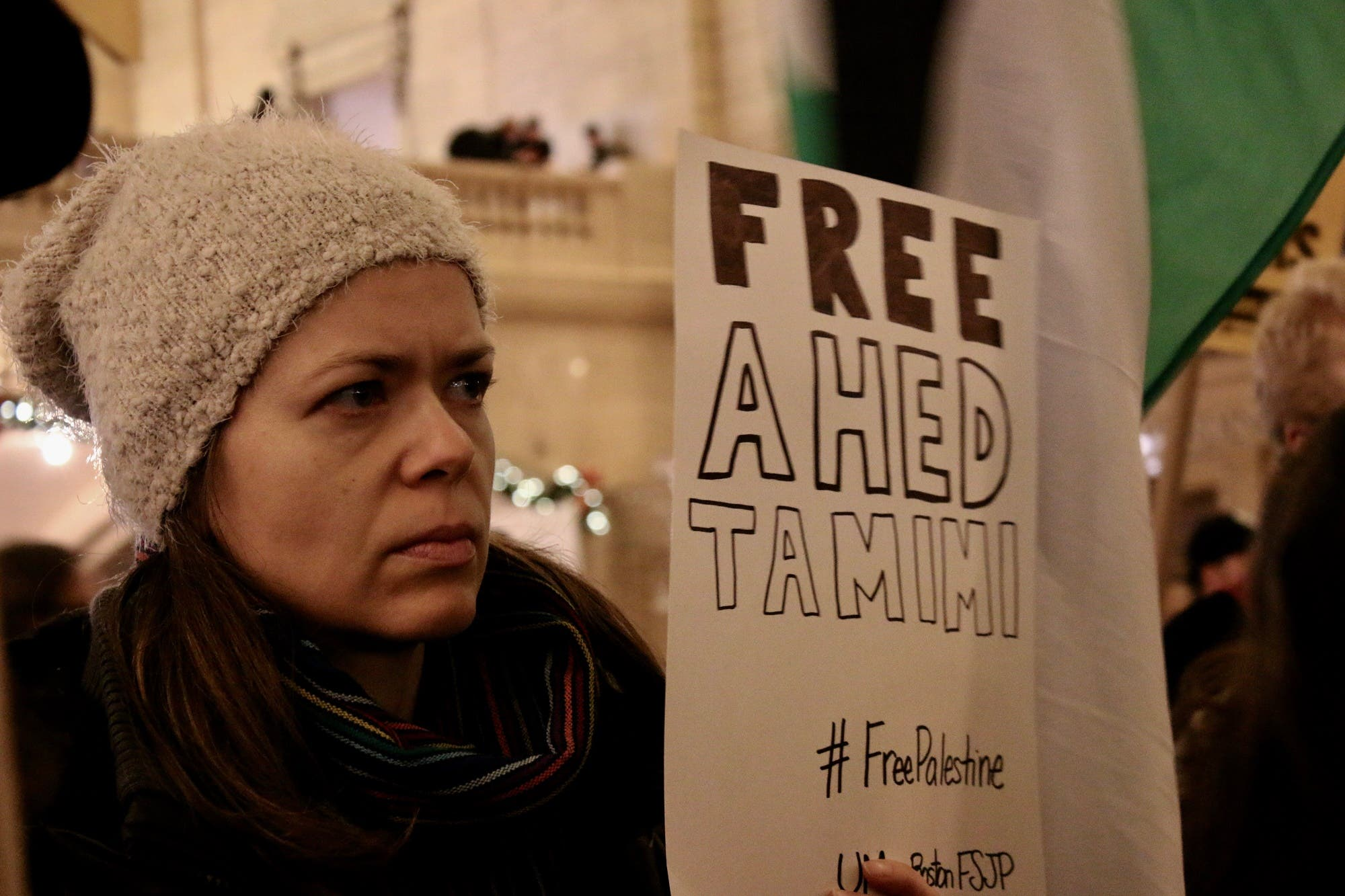 ahed tamimi protest new york. phoebe leila barghouty
