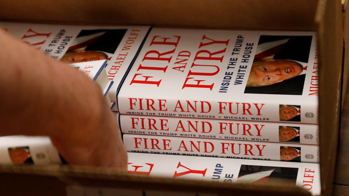 """copies of """"Fire and Fury: Inside the Trump White House"""" by author Michael Wolff"""