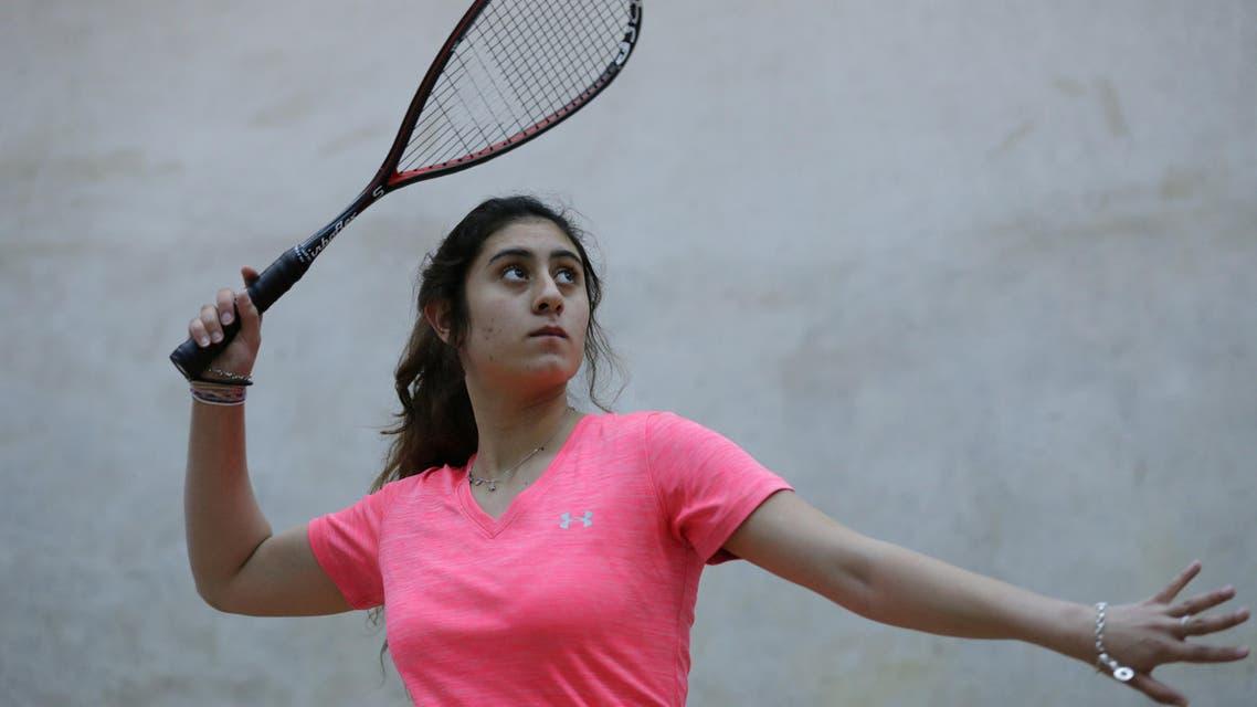 nour sherbini squash women. (Reuters)