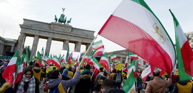 احتجاجات سابقة ضد شاهرودي في ألمانيا