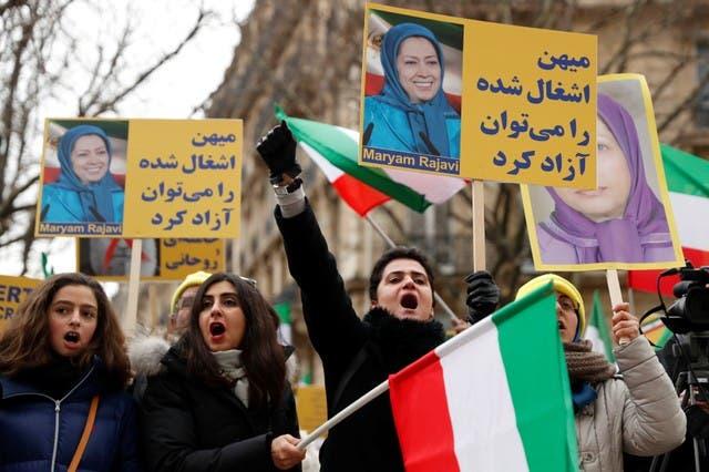 احتجاجات مظاهرات إيران باريس