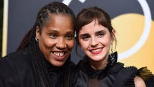 Golden Globes a sea of black as Hollywood marks sex scandal