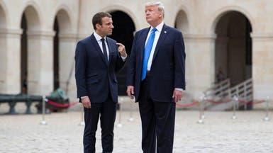 بعد تصريح وتغريدة.. محادثات ترمب وماكرون قد تشهد خلافا