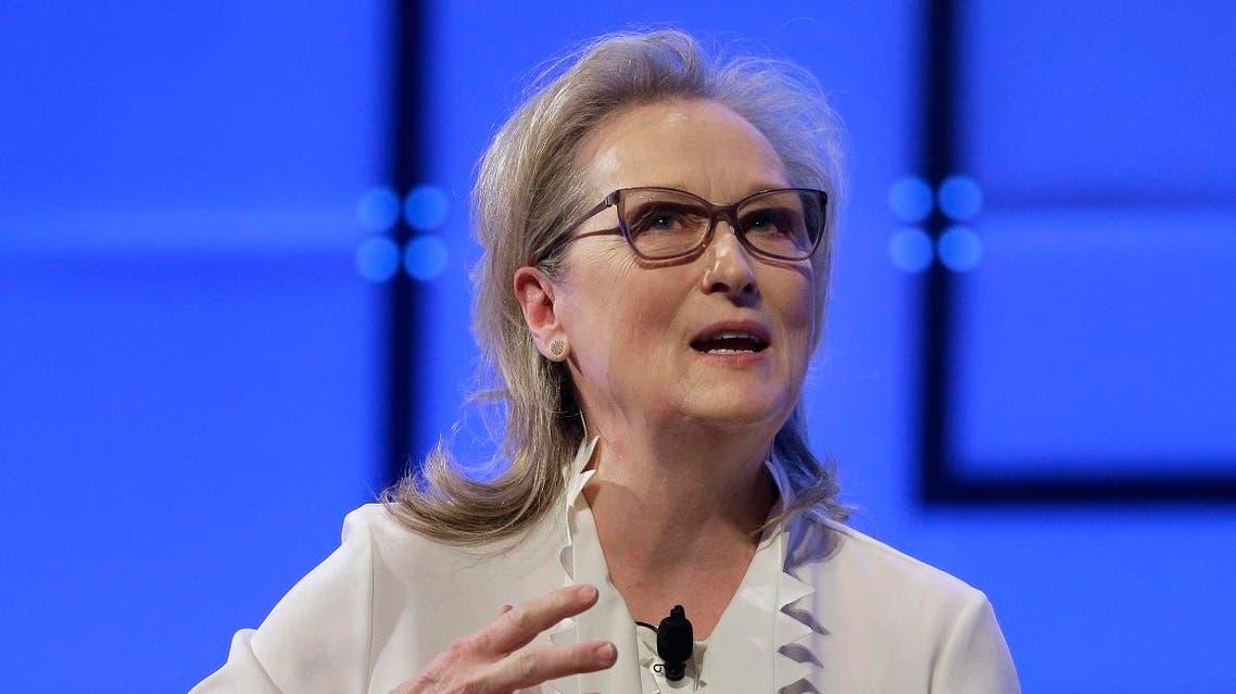 Academy Award-winning actress Meryl Streep speaks, Thursday, Dec. 7, 2017, during the 13th annual Massachusetts Conference for Women, in Boston. (AP)